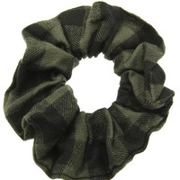 Gray Flannel Scrunchie Hair Accessory