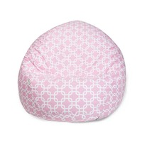 Small Classic Printed Bean Bag - Links - Soft Pink