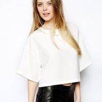 ASOS Crop Top with Boxy Kimono Sleeve -