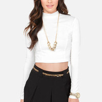 Show Who's Boss Ivory Crop Top