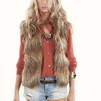 Jack By BB Dakota Erica Fur Vest | Faux Fur at MessesOfDresses.com