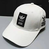 ADIDAS street fashion men and women outdoor sports and leisure caps baseball cap white