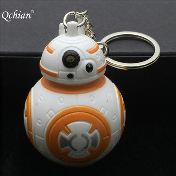New Star Wars The Force Awakens Bb8 Bb-8 R2D2 Droid Robot Led Keychain Action Figure Stormtrooper Clone Strap Toy Gifts