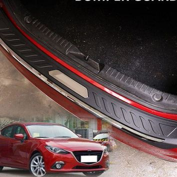FIT FOR M3 AXELA BM 2014 2015 2016 ABS REAR DECK BUMPER PROTECTOR STEP PANEL BOOT COVER SILL PLATE TRUNK TRIM GARNISH