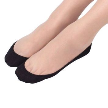 Shocking Show Cotton Lace Antiskid Invisible Liner No Show Peds Low Cut Socks WZ001