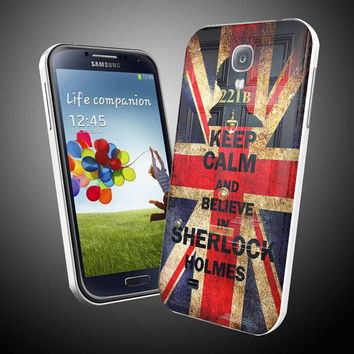 Kepp calm and belive in sherlook holmes iPhone 4 / 4S / 5 Case Samsung Galaxy S3 / S4 Case