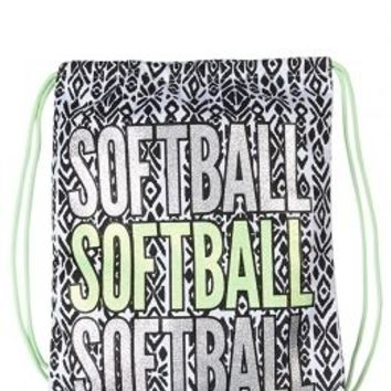 Softball Drawstring Tote S Large Bags Fashion Justice
