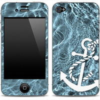 New Anchor 3 iPhone 4/4s or 5, iPod Touch 4th or 5th Gen, Galaxy S2 or S3 Skin FREE SHIPPING