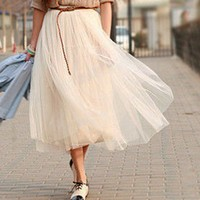 Modern Romantic Princess. Cream Ivory Mesh Tulle Full Skirt. Summer | GlamUp - Clothing on ArtFire