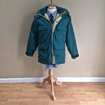Vintage Women's Woolrich 60/40 Parka Green Medium