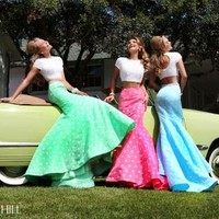 Sherri Hill Print Skirt Two Piece Dress 32226
