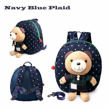 Toddler Backpack class Safety Harnesses For 1-3 Years Old Baby Toddler Walking Keeper Bear Backpack Strap Bag Anti Lost Children plush AT_50_3