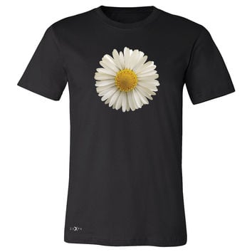 Real 3D Daisy Men's T-shirt Flower Cool Cute Embossed Tee
