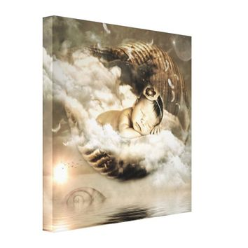 Baby Dreaming of Floating in the Clouds Canvas
