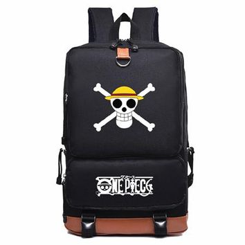 Japanese Anime Bag 2018 New Fashion One Piece Luffy Backpack Knapsack Mochila School Bags  Bookbag Chirdren Teenagers Men Women Laptop Bag AT_59_4