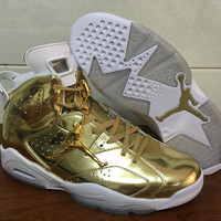 "Air Jordan 6 Pinnacle ""Metallic Gold"" Unisex Basketball shoes"