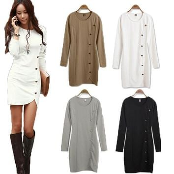 Women's Long Sleeve Fashion Mini Dress