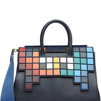 Anya Hindmarch - Space Invaders Soft Ephson Small Leather Tote