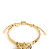 Gold Triple Bangle Chain Friendship Bracelet by Juicy Couture, O/S