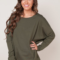 Through the Mountains Olive Sweater