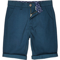 River Island Boys teal chino shorts