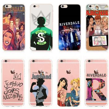 Hot TV Riverdale Soft Clear TPU Phone Case For iPhone 7 7Plus 6 6S Plus SE 5 5S