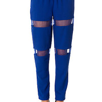 The Stripped Away Pants in Royal