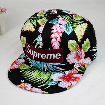 Supreme Floral Printed Baseball cotton cap Hat