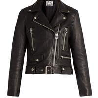 Mock leather biker jacket | Acne Studios | MATCHESFASHION.COM UK