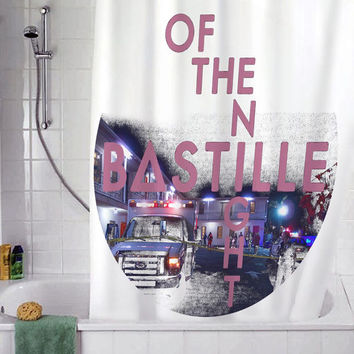 "Bastille Of The Night christmas gift, Custom Shower curtain, Sizes available size 36""w x 72""h 48""w x 72""h 60""w x 72""h 66""w x 72""h"