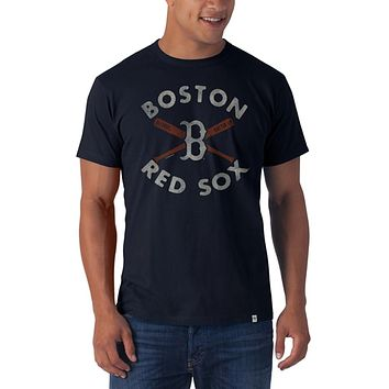 Boston Red Sox - Crossed Bat Logo Flanker Premium T-Shirt