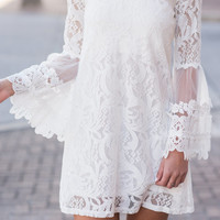 Love Is In The Air Dress, White