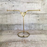 Towel Holder Brass Towel Stand Hollywood Regency Hand Towel Holder Dragonfly and Butterfly Gold Necklace Stand Brass Jewelry Stand