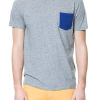 SLUB KNIT T - SHIRT WITH POCKET - T - shirts - Man | ZARA United States