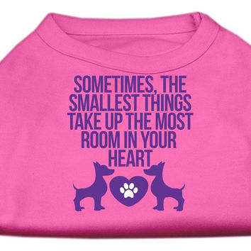 Smallest Things Screen Print Dog Shirt Bright Pink Med (12)