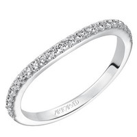 "Artcarved ""Wanda"" Curved Diamond Wedding Band"
