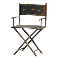 Park Avenue Collection Scaled Metal Director'S Chair Sculpture