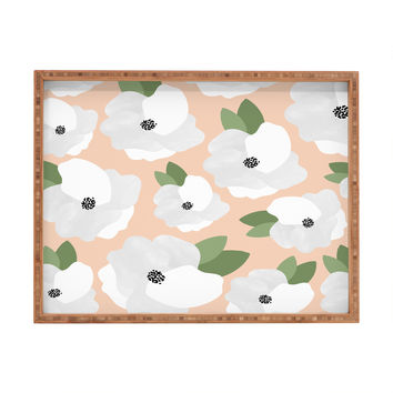 Allyson Johnson Romantic Floral Rectangular Tray