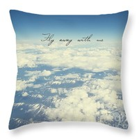 """Fly away with me Throw Pillow for Sale by Ivy Ho - 16"""" x 16"""""""