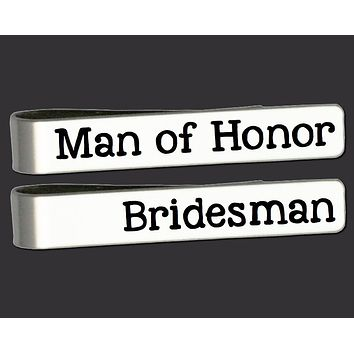 Man of Honor or Best Man Tie Bar