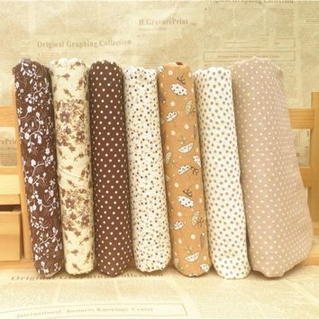 High Quality 7Pcs/Set Quilting Fabric Floral Cotton Cloth DIY Craft Sewing Handmade Accessory