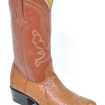 Gavel Handcrafted Men's 4 Piece Ostrich Cowboy Boots