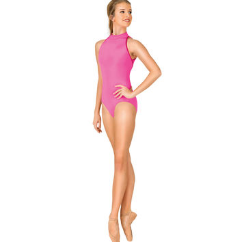 "Adult ""Karolina"" Mock Neck Tank Leotard"