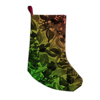"""Ebi Emporium """"Blossoms Unchained 3"""" Coral Green Christmas Stocking"""