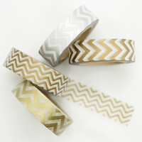 Metallic Chevron Washi Tape