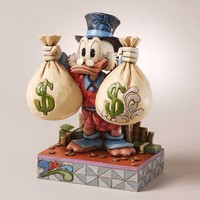 Disney Traditions by Jim Shore Uncle Scrooge Figurine, 7-3/4-Inch