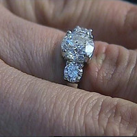 4.20ct Round Diamond Engagement Ring GIA certified 18kt White Gold JEWELFORME BLUE