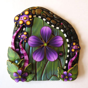 Toadstool Garden Fairy Door, Wild Mushroom Pixie Portal, Private Entrance for the Tooth Fairy
