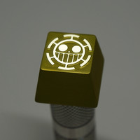 Three Beeline Pirates of Heart Jolly Roger Hand-Crafted Backlit Keycap