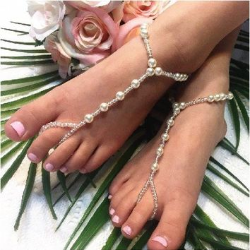 SEA OF LOVE flower girl barefoot sandals